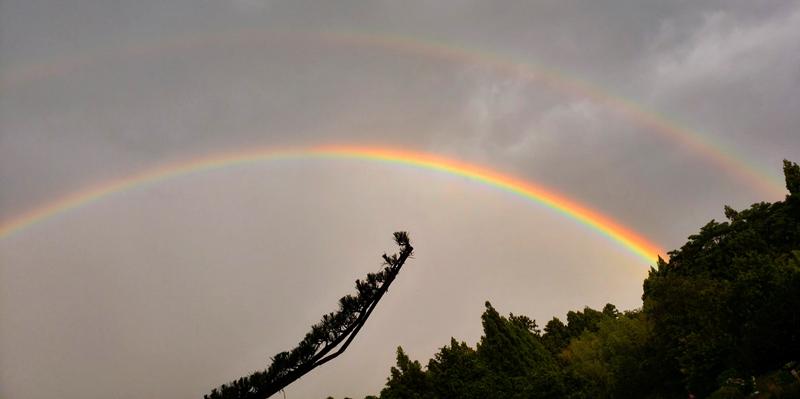 二重の虹(ダブルレインボー)