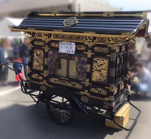 リヤカー式霊柩車